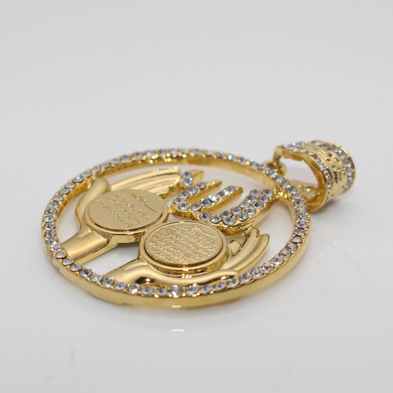 zkd Islamic Allah Al Qalam AYATUL KURSI pendant Necklace  Surah  Muslim Quran Vanyakad
