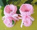 Bautismo botines zapatos de bebé recién nacido hecho a mano de punto de lana zapatos de bebé zapatos de niño zapatos de bautizo niñas fija el envío libre