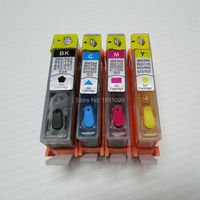 Cheio de tinta corante cartucho de tinta Recarregáveis Para HP 178 com chip para HP Photosmart HP178 HP178XL C6300/C5300/C5383/C6383/D5460/D5400