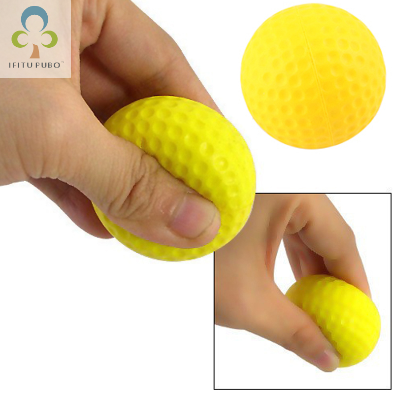 20pcs/bag Bright Color Light Indoor Outdoor Training Practice Golf Sports Elastic PU Foam Balls WYQ