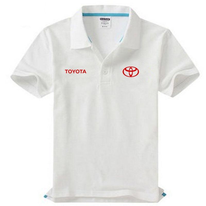 Brand clothing Toyota logo   Polo   Shirt Casual solid male   polo   shirt Short Sleeve High quality