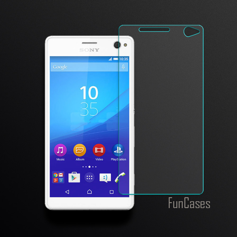 US $2 34 52% OFF 2 5D Curved Edge Screen For Sony Xperia C4 E5303 E5306  E5353 Tempered Glass For Sony C4 Screen Protector Front Film Anti  Scratch-in