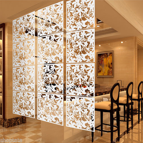 4pcs Modern Home Hanging Screen Curtain Art Wall Sticker Window Decor Hg108024
