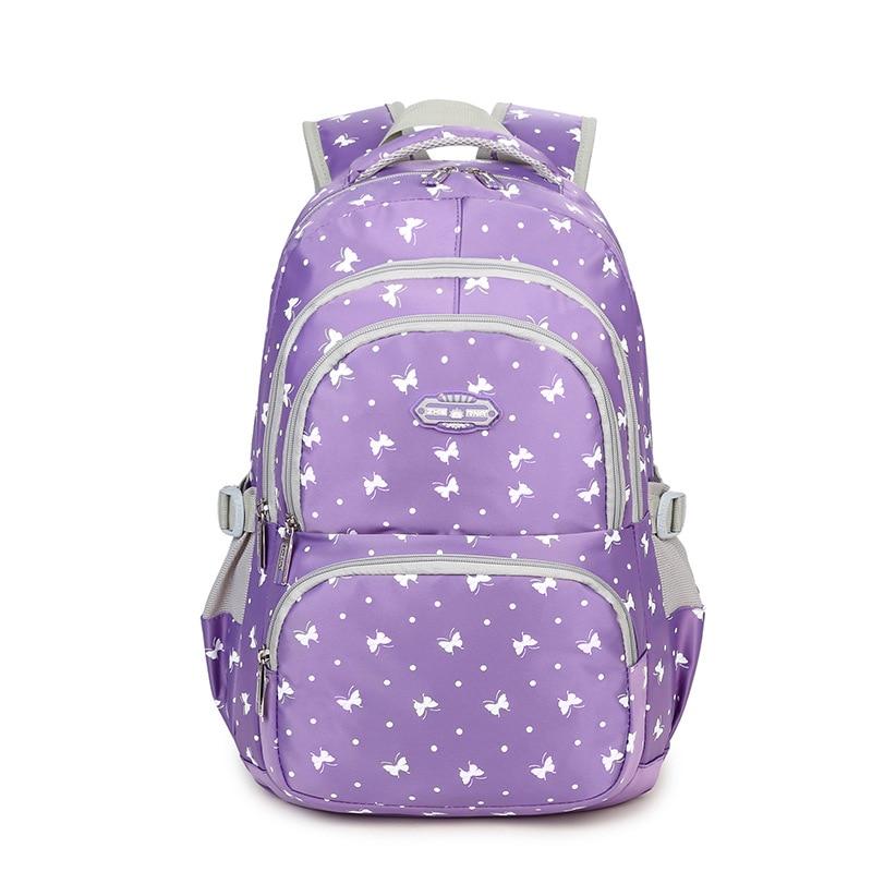 Fashion school bags for teenage girls backpack Butterfly print high school bag Nylon Travel Backpacks Casual Female Back Pack