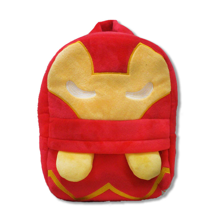 3D-The-Avengers-Plush-Backpacks-Toys-for-kids-2016-New-Ironman-Superman-Spiderman-Batman-doll-plush-schoolbag-mochila-1