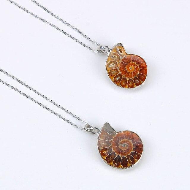 New arrive 2017 ammonite pendant necklace electroplated ammonite new arrive 2017 ammonite pendant necklace electroplated ammonite natural stone pendant women semi stone pendants aloadofball Image collections