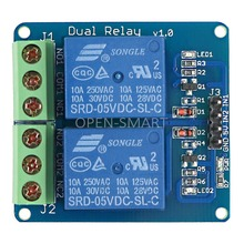 5V Dual Relay Module 2 Channel Relay module High Level Trigger  for Arduino