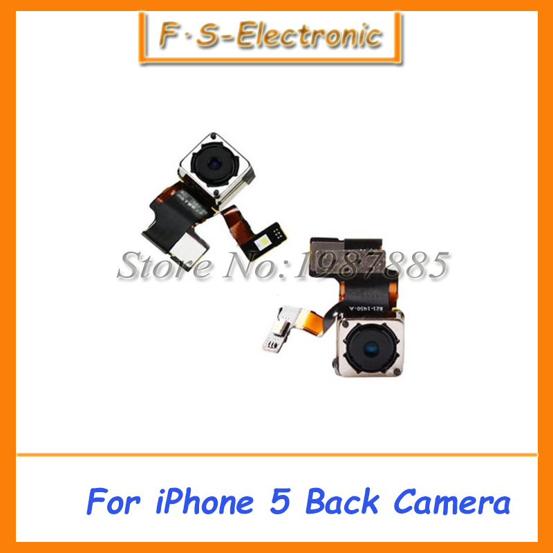 High Quality Rear Lens Flex Cable Back Facing Camera Flash Module Repair For iPhone 5 5G Back Camera Tested Free Shipping