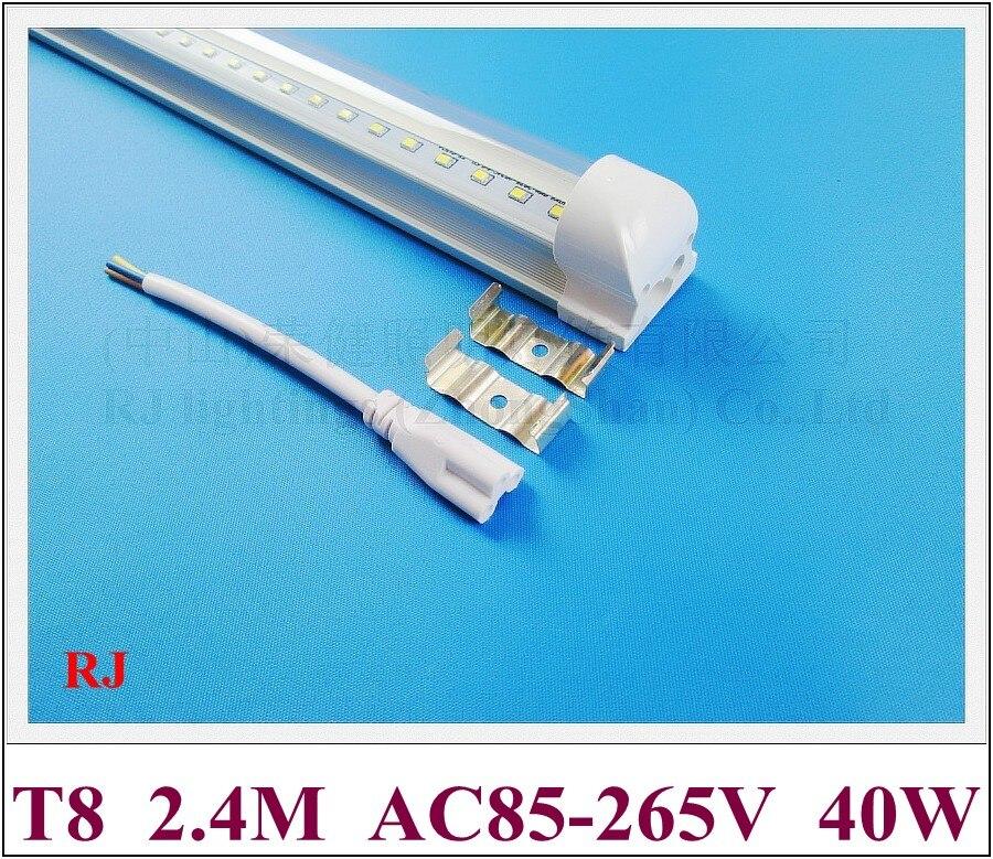 8 Ft 2 Lamp Fluorescent Strip Light White No Ssf2964wp 8ft: ( Tube+base ) Integrated SMD 2835 LED Tube Light Lamp