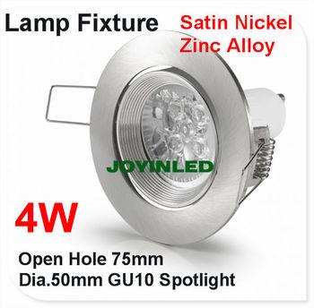 LED Ceiling lamp holder 4W GU10 Lighting ceiling spot light fixture/Halogen mr16 spot lamp round fixtures aluminum white color