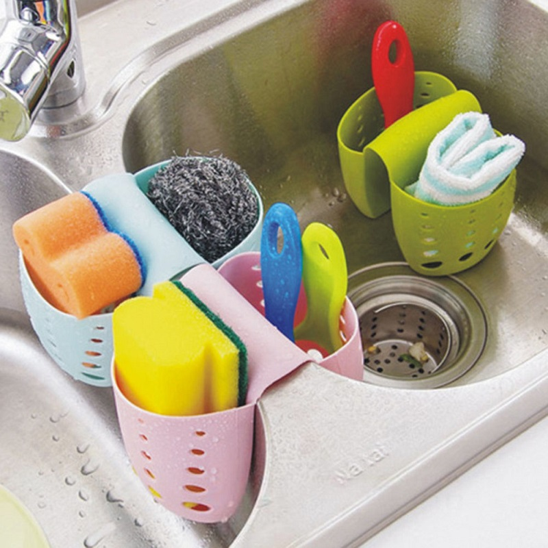 Kitchen Sink Sponge Holder Draining Rack Sink Kitchen Hanging Drain Storage Tools Sink Holder Drain Basket Storage Organizer