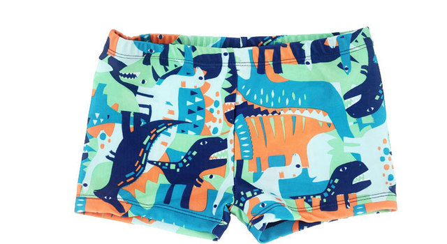 2420dcb567f1c New Boys Swimwear Cartoon Printing Cute Fit 4-10Y Swimming Trunks Kid  Children Astronaut/