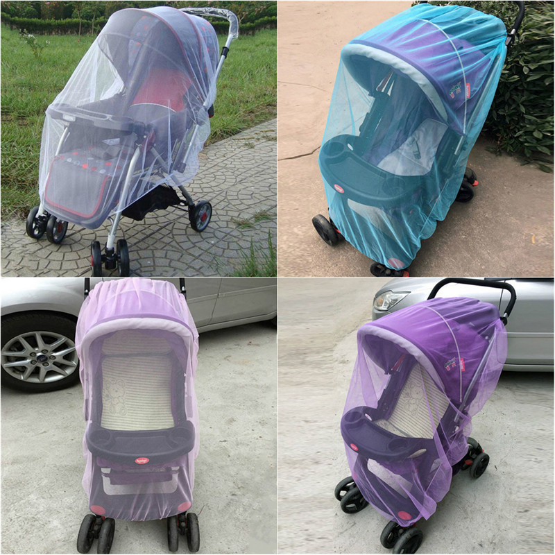 Baby Carriages Anti-mosquito Nets Baby Stroller Mosquito Net All Cover Protection Mesh Pushchair Accessories New naturehike outdoor anti mosquito head protection mesh fabric head cover mask black