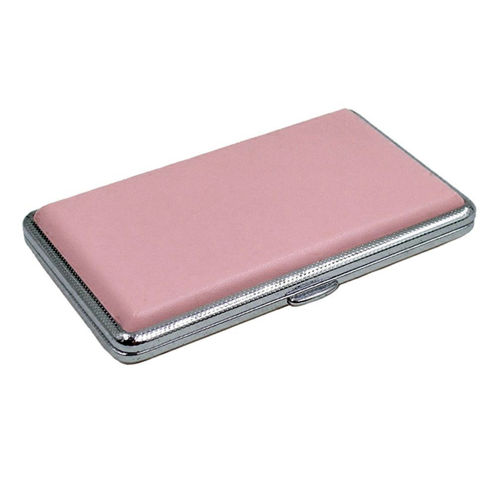 1 Pcs Portable Women Leather Double Sided Case Slim Cigarette Case Box Holder For 14 Pcs 100mm Cigarettes