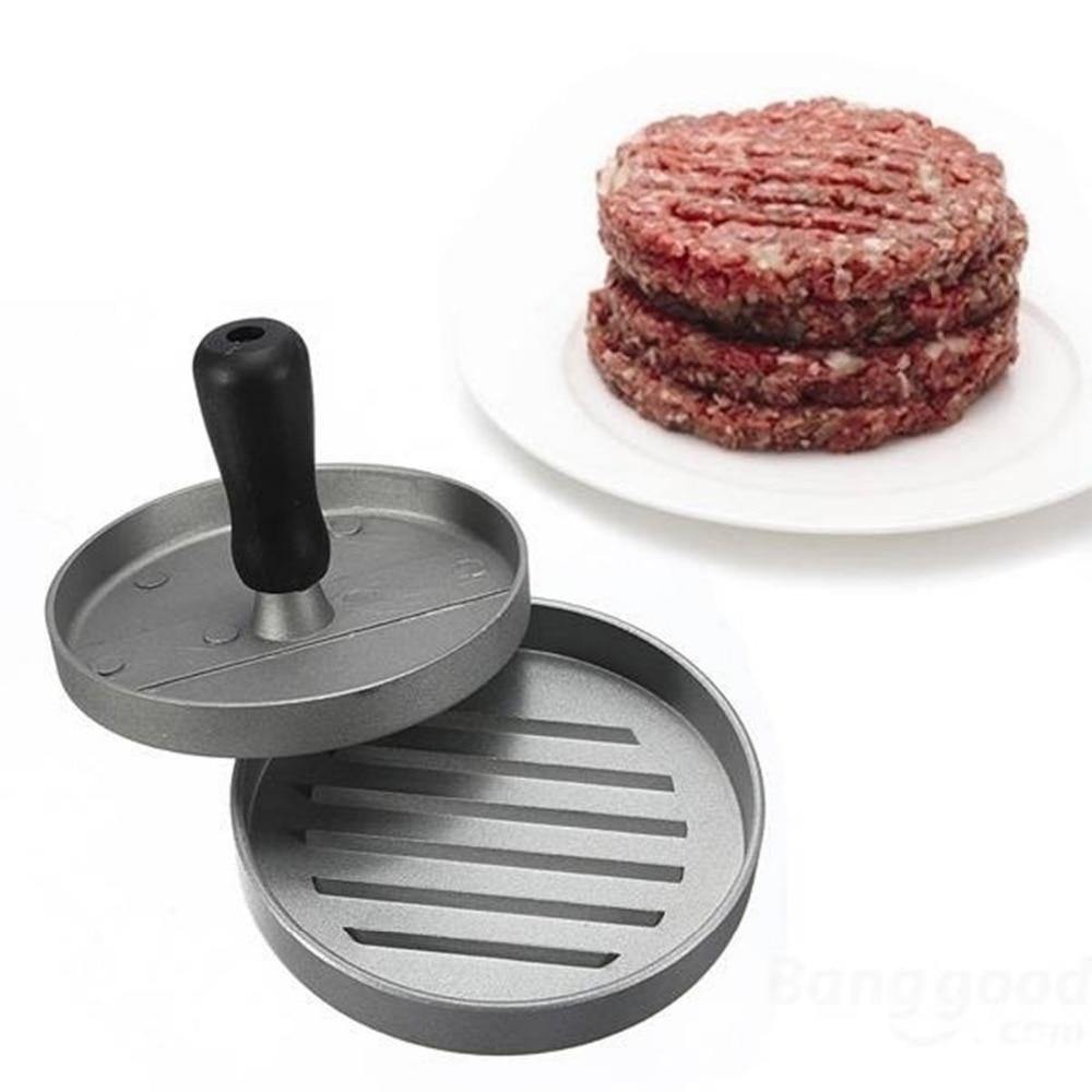 Round Shape Burger Press Adjustable Hamburger Meat Patty Maker Aluminium Cooking Tools