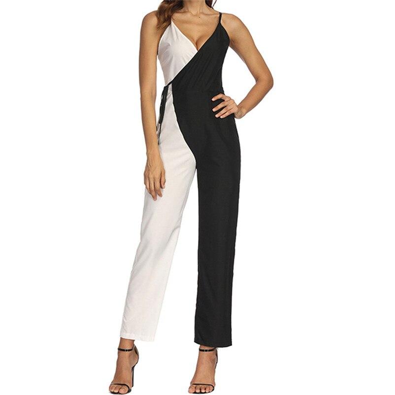 Halter Neck Elegant Sexy Jumpsuits Ladies Loose Slim Casual Overalls Long Pants Women Sleeveless Night Club Romper quality JP4