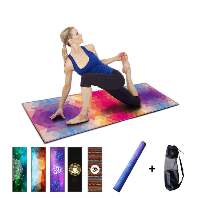 Natural Rubber Yoga Mat Non Slip Fitness Mats With Yoga