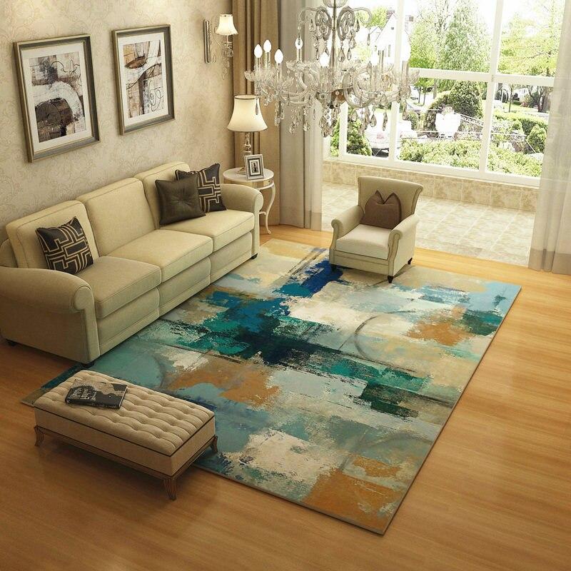 Europe abstraite encre tapis pour salon maison chambre tapis et tapis brève Table basse tapis de sol doux étude zone tapis