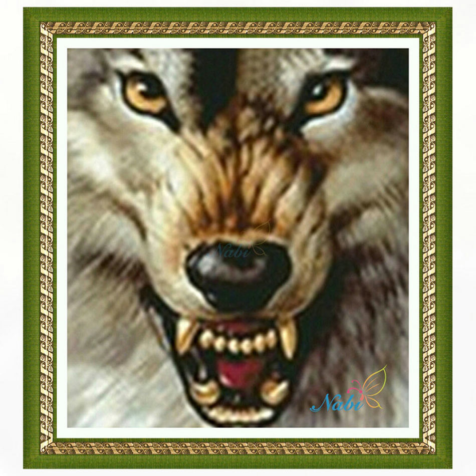 Square diamond mosaic painting diamond embroidery cross stitch Wolf - 3d diy full rhinestones icons sale 4936R