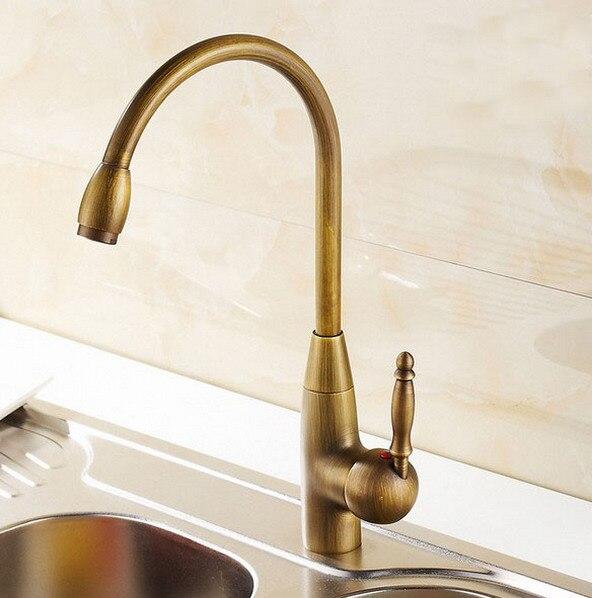 Antique Brass Single Handle Swivel Kitchen Bathroom Sink Basin Faucet Mixer Taps anf004Antique Brass Single Handle Swivel Kitchen Bathroom Sink Basin Faucet Mixer Taps anf004