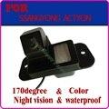 Color CCD HD Frete Grátis para Ssangyong Actyon Car Câmara de Visão Traseira Reversa ajuda ao estacionamento de Backup à prova d' água
