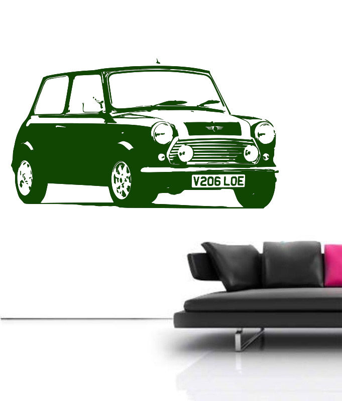 Large Car Mini Cooper Classic Bedroom Wall Art Decal Sticker Removable Vinyl Transfer Stencil Mural Home Bedroom Decor-in Wall Stickers from Home u0026 Garden ...  sc 1 st  AliExpress.com & Large Car Mini Cooper Classic Bedroom Wall Art Decal Sticker ...