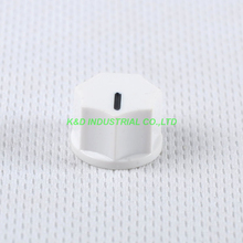все цены на 10pcs Colorful White Rotary Control Plastic Potentiometer Knob Guitar Knurled Shaft Hole онлайн