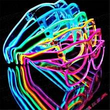 Gafas parpadeantes EL alambre led, brillantes, para fiestas, regalo, novedad