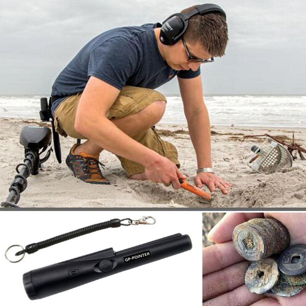 Handheld GP Pointer Waterproof Automatic Pointer Pinpointer Portable Metal Detector with LED Light 360 Degree Detection цена