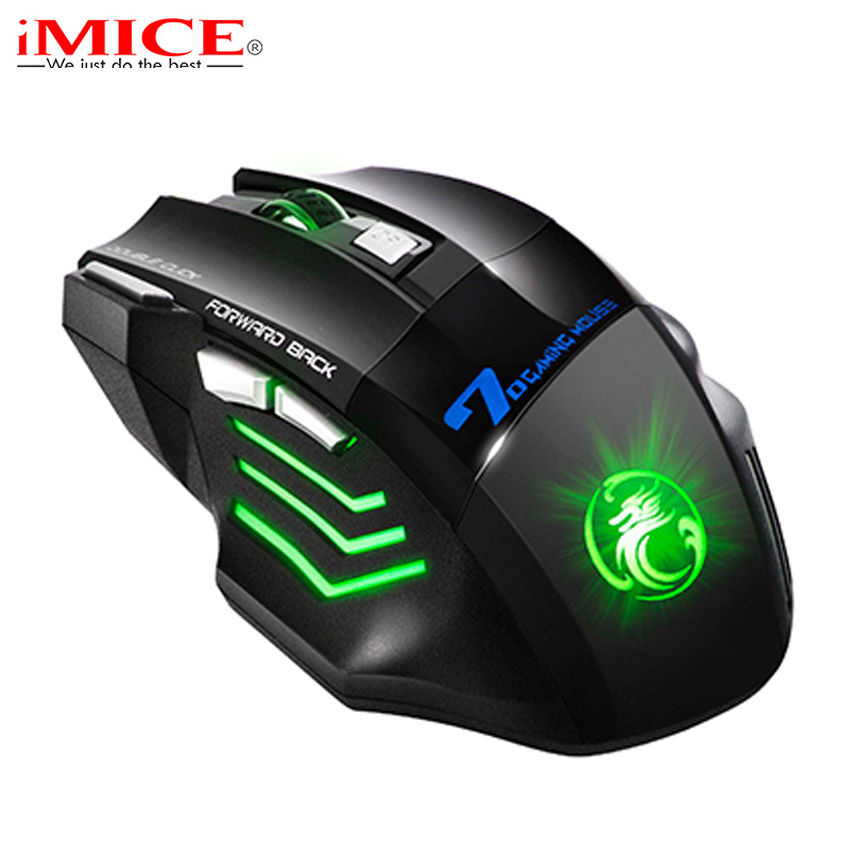 iMice X7 Wired Gaming Mouse Professional 7 Knappar LED Optisk Spel Ergonomisk Mus Möss för PC bärbar dator musspelare