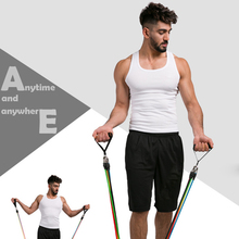 Resistance Bands Set Workout Bands with Door Anchor Handles and Ankle Upgraded TPE Straps For Resistance Training resistance band 11pc set with door anchor ankle straps foam handles