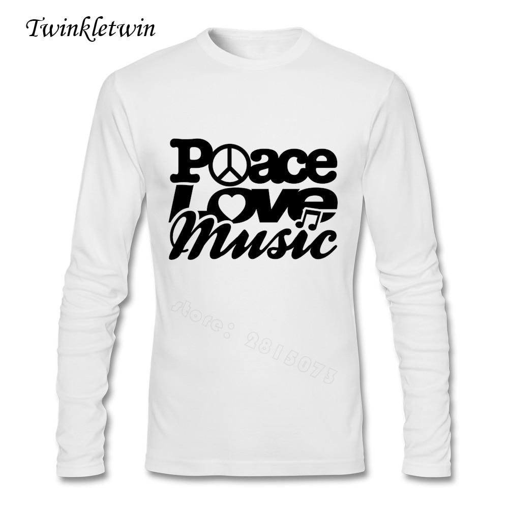Desain t shirt elegan - Desain T Shirt Elegan Perdamaian Cinta Musik Desain T1 Pria Ukuran Besar T Shirt Remaja