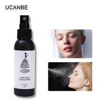 UCANBE marca Dewy acabado Spray de fijación maquillaje niebla duradera maquillaje de la cara de la Fundación Protección control de aceite Base cosméticos Fixer