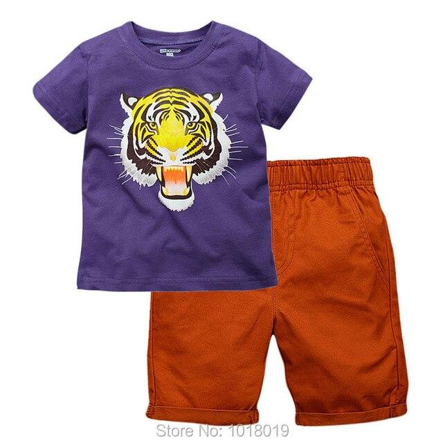 6fe20cc500f4f الاطفال الملابس مجموعة جديد 2019 جودة العلامة التجارية 100% القطن الصيف الأطفال  الملابس مجموعة تي