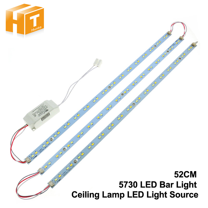 5730 LED Bar Lights LED Tube Ceiling Lamp LED Light Source High Brightness 24W 32W 52cm 1Set