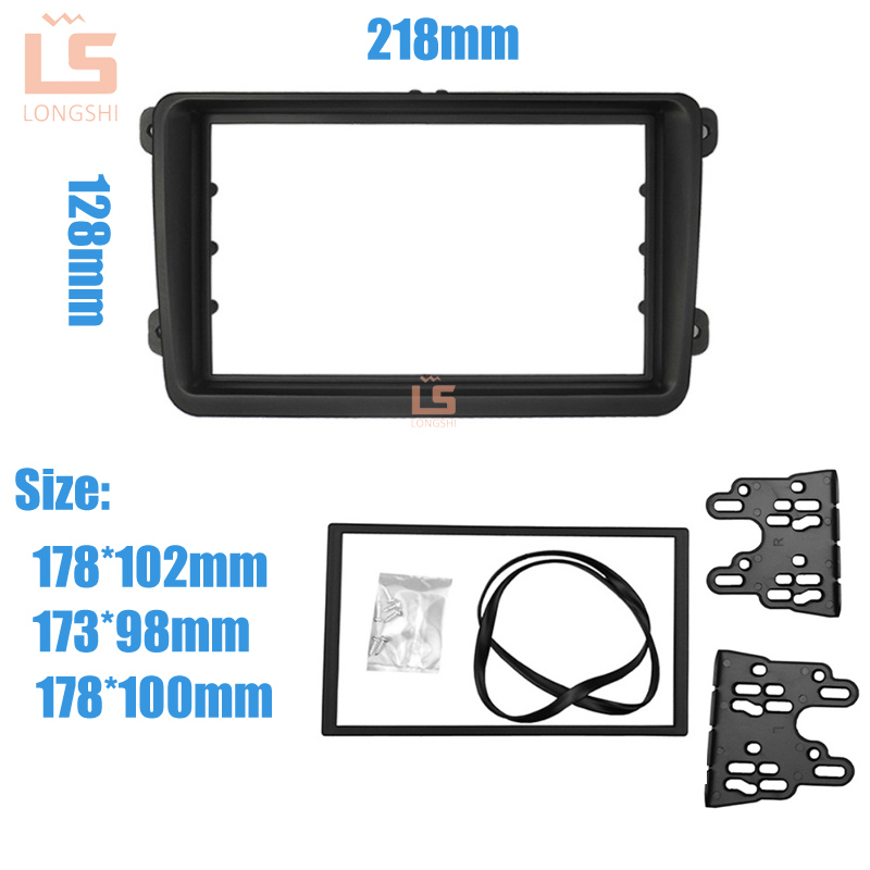 Image 3 - Car Double Din Frame radio Fascia Panel DVD Dash Interior Trim for Volkswagen for VW Touran Caddy SEAT for Skoda Fabia Octavia 2-in Fascias from Automobiles & Motorcycles