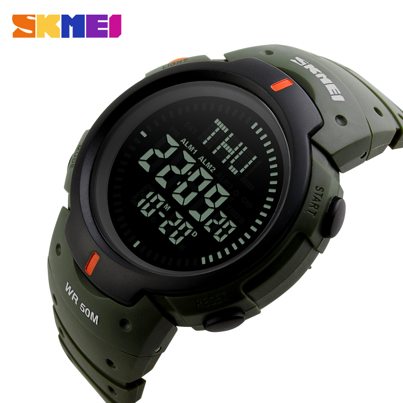 SKMEI Outdoor Chronograph Compass Watch Men Multifunction Waterproof LED Electronic Digital Sports Watches Fashion Wristwatches la mer collections lmmtw1001 page 4