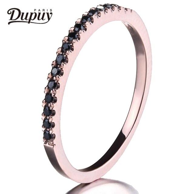 5d5e48b908cd DUPUY Danity anillo de boda de la mitad de la eternidad allanar negro  anillo de diamantes