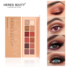 HERES B2UTY Holiday Eyeshadow Palette 12 Color Palette Make up Palette Pigmented Eye Shadow Matte Eyeshadow shimmer Eyeshadow
