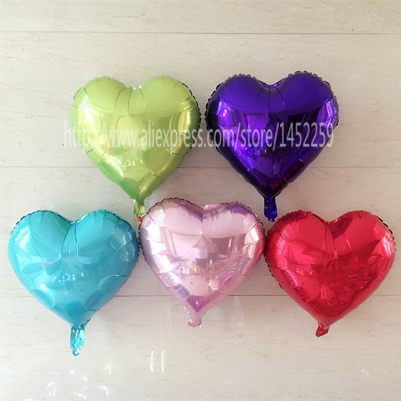 XXPWJ Free shipping new 5pcs / lot wedding wedding decorations 18-inch heart-sha