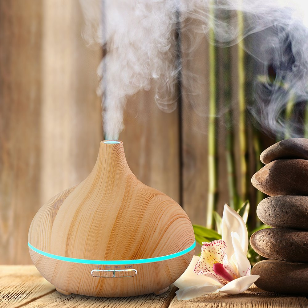 Aromacare 300ml Cool Mist Humidifier Ultrasonic Aroma Essential Oil - Perkakas rumah - Foto 3