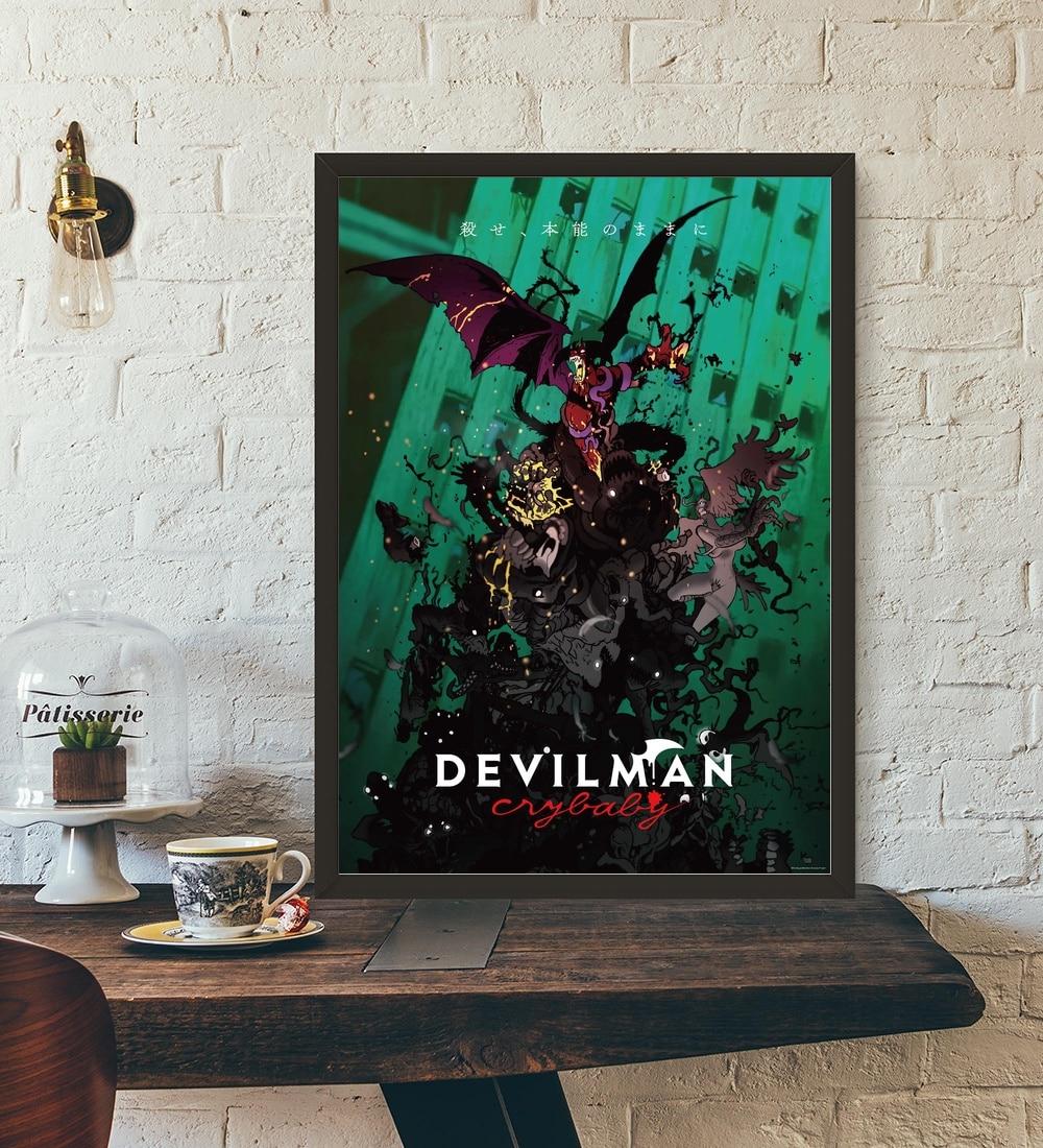 Devilman crybaby Netflix anime japonés TV arte de la pared decoración impresiones de seda arte cartel pinturas para sala no marco