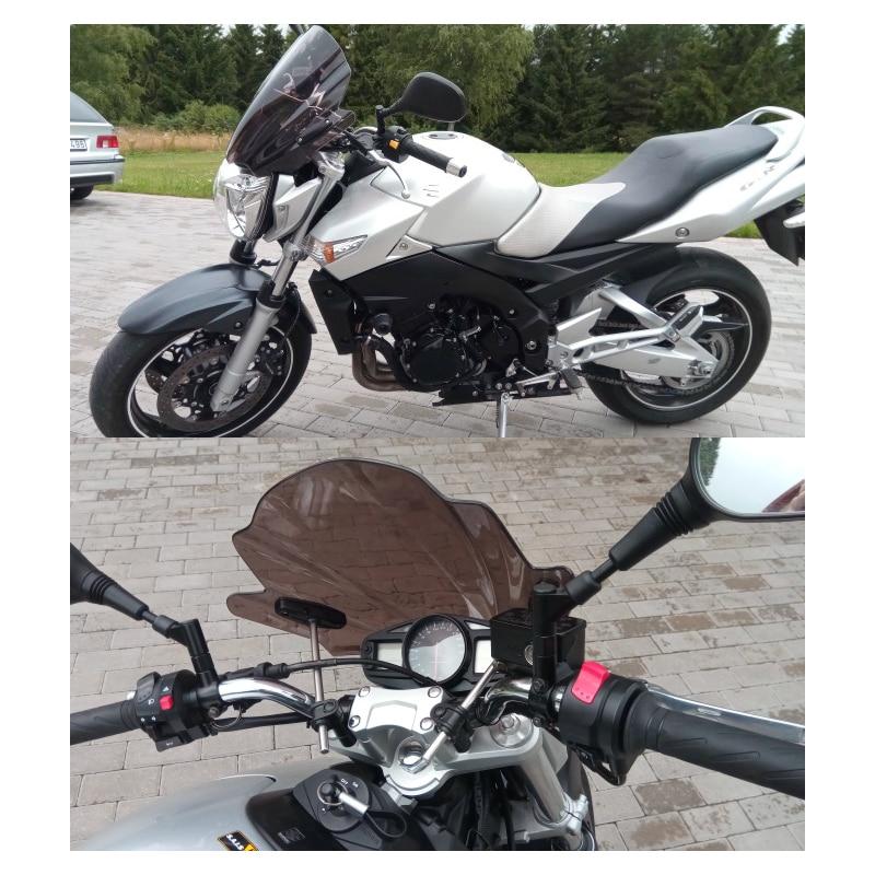 Street Bikes Wind Deflectors Windshield Windscreen For 2007 2018 Suzuki Bandit 650 GSF650N 1250 GSF1250N 150