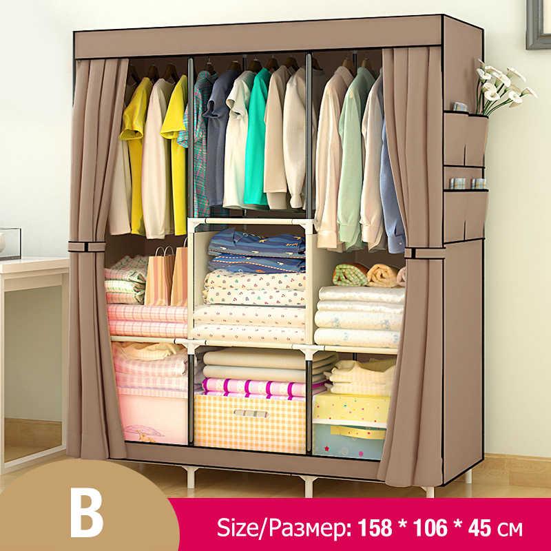 Actionclub нетканый многофункциональный мебель для шкафа гардероба ткань большой шкаф портативный складной шкаф для хранения ткани шкафчик