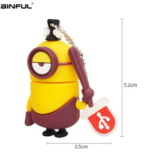 цена на Little Yellow Man Usb Flash Drive Cartoon Pen Drive Usb 2.0 High Speed Pendrive 4g 8g 16gb 32gb 64gb 128g Flash Disk Memoria Usb