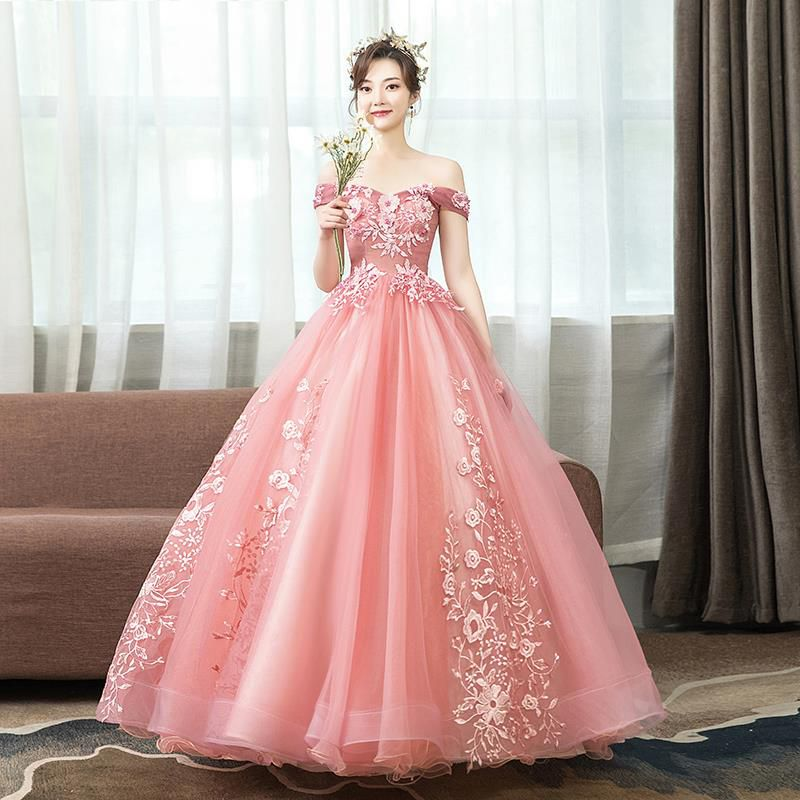 Prom Dress Boat Neck Vestidos De Gala Sexy Embroidery Women Party Night Dresses 2019 Plus Size off the shoulder Prom Gowns E714 in Prom Dresses from Weddings Events