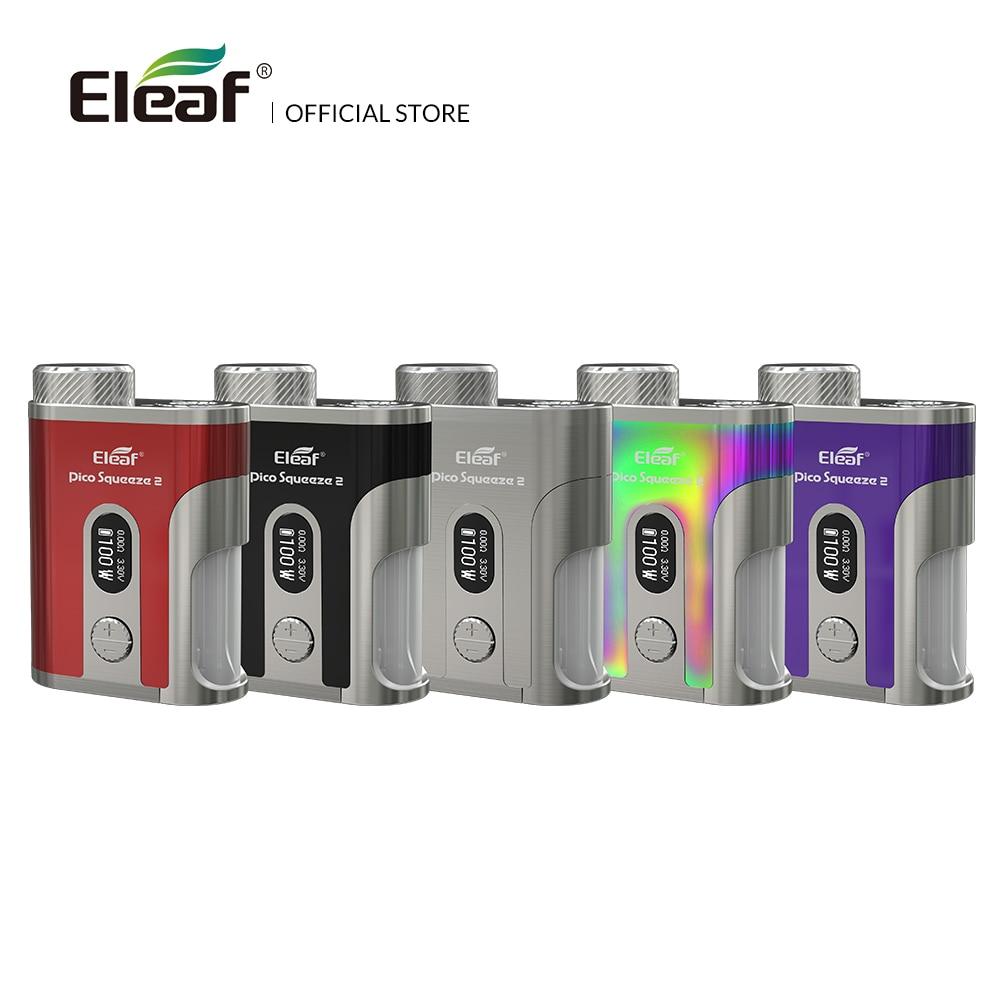 Original Eleaf Pico presser 2 mod 100 W avec 8 ml e-liquide bouteille boîte mod cigarette électronique mod boîte