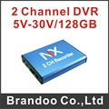 Free shipping 128GB SD CCTV DVR, support 2 pcs cameras recording video