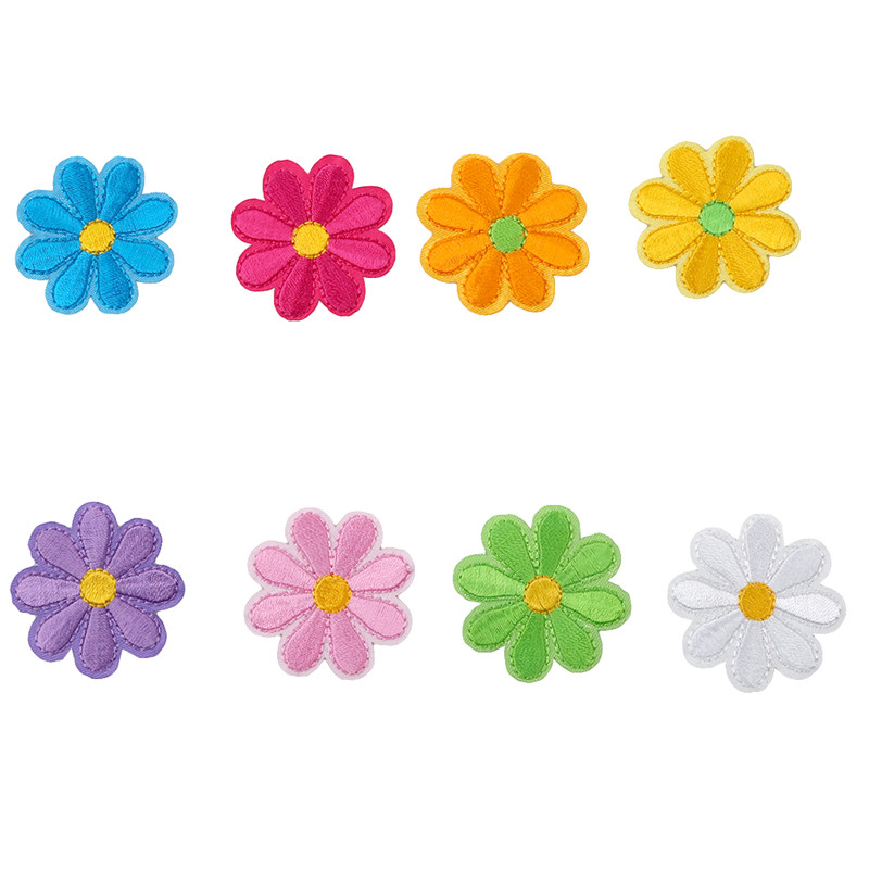 5pcs/pack Embroidered Flower Appliques Patches Iron On Decorative Patch For Clothing Sewing Accessories PC898105