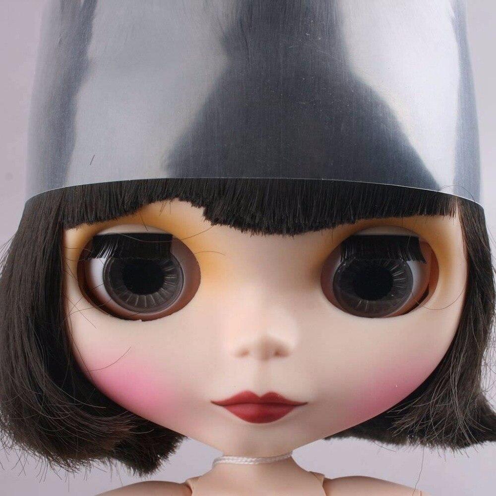 Блит лицо куклы парик ~ матовая [Wamami] 12 короткие Обнаженная совместное черный 19 совместных